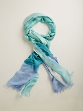 Long Ombre Silk Scarf