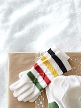 Park Stripe Knit Gloves