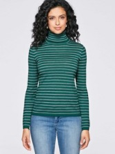 Washable Merino Stripe Turtleneck