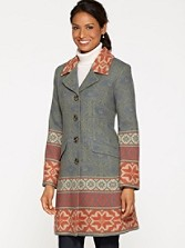 Pathways Jacquard Coat