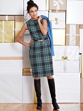 Worsted Wool Flannel Simone Sheath