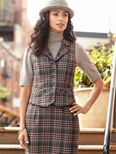 Holiday Plaid Vest