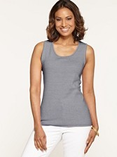 Mini Stripe Ribbed Tank
