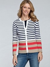 Placed Stripe Cardigan