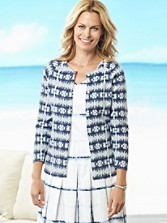 Boardwalk Batik Print Cardigan