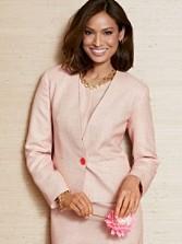 Modern Tweed One-button Jacket