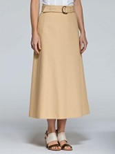 Arlington Canvas Long Skirt