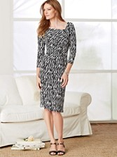 Zebra Print Cynthia Knit Dress