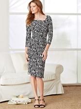 Zebra Print Cynthia Knit Dress