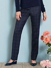 Worsted Windowpane True Fit Trousers