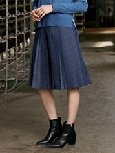 Perfect Pleat Wool Skirt
