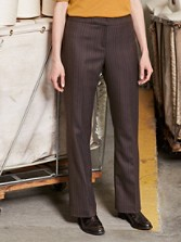Worsted Wool Pinstripe Madison Trousers