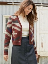 Diamond And Cross Cardigan