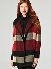 Plaid Cardi Coat