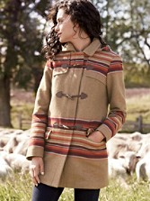 Tillamook Stripe Toggle Coat