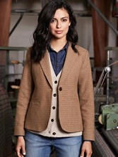 Dallas Herringbone Blazer