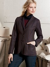Worsted Wool Pinstripe Kingston Jacket