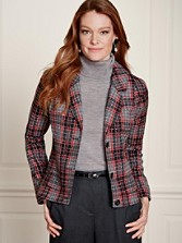 Novelty Weave Plaid Metro Jacket