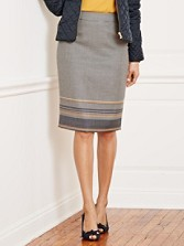 Border Pencil Skirt