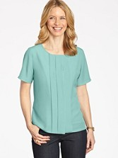 Pleat-front Blouse