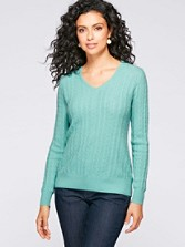 Cashmere Cable Pullover