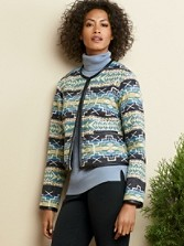 Crop Jacquard Jacket
