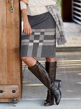 Modern Geo Reversible Knit Skirt