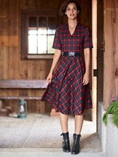 Audrey Plaid Dress