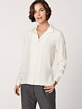 Silk Wing Collar Blouse