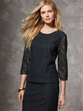 Lace Pullover Blouse