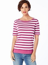 Sunshine Stripe Rib Tee
