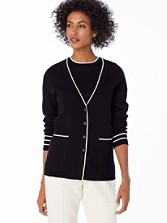Tipped Cardigan