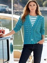 Devon Cable Trim Cardigan