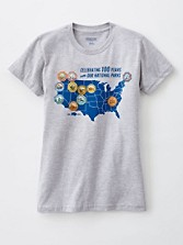 National Parks Map Tee