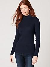 Rib Mock Neck Pullover