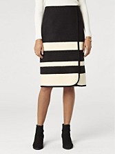Skyline Stripe Faux Wrap Skirt