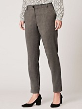 Herringbone Worsted Slim Ankle Pants