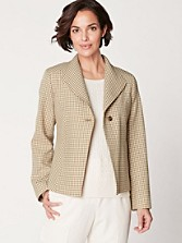 Checkered Wool Liv Jacket