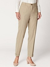 Checkered Wool Cuffed Pants