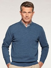 Fine-gauge Merino V-neck Sweater