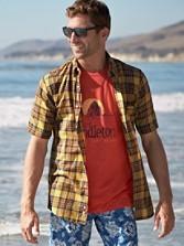 Short-sleeve Fitted Seaside Shirt