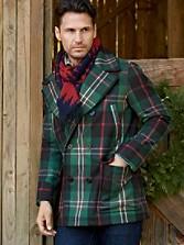 Tartan Pea Coat