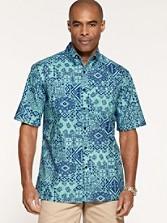 Short Sleeve Printed Camp Shirt
