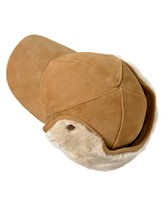Lockwood Leather/sheepskin Baseball Hat