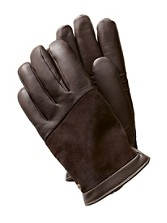 Cascade Blocked Leather Gloves