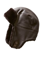 Corbett Leather/shearling Trapper Hat
