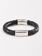 Braided Leather Clasp Bracelet