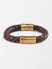 Braided Leather Clasp Bracelet