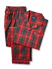 Flannel Two-piece Pajama Set