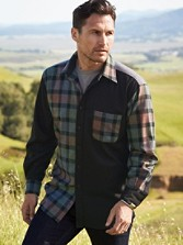 Fitted Pieced Lodge Shirt
